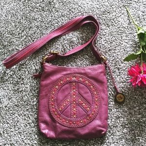 The Sak Ginuine Leather Cross Body Bag